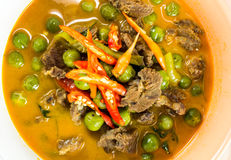 Hot Thai curry. With beef Stock Photography