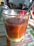 Hot Thai tea. In coffee shop ,Hatyai,Songkhla,Thailand Royalty Free Stock Images