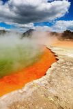 Hot thermal spring, New Zealand Royalty Free Stock Image
