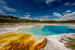 Hot thermal spring in Yellowstone Stock Image