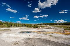 Hot thermal spring in Yellowstone Stock Photography