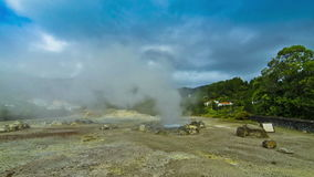 Hot thermal springs on Sao Miguel island, Azores, Portugal stock video footage