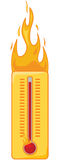 Hot thermometer vector illustration