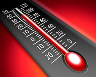 Hot thermometer. Red hot thermometer illustration design Royalty Free Stock Images