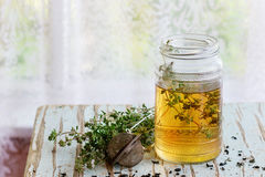 Hot thyme tea Stock Images