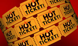 Hot Ticket Popular Event In Demand Admission Entry Stock Images