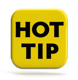 Hot Tip. Icon isolated on white. Clipping path included for easy selection stock photo