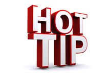 Hot tip Stock Image