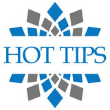 Hot Tips Blue Grey Circular Stock Image