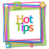 Hot Tips Colorful Frame Royalty Free Stock Photography