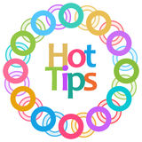 Hot Tips Colorful Rings Circular Stock Photo