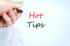 Hot tips text concept Royalty Free Stock Image