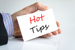 Hot tips text concept Royalty Free Stock Images