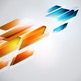 From hot to cold refresh illustration. Geometrical arrow background. Energy development Royalty Free Stock Photos