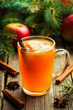 Hot toddy traditional winter alcohol warming drink Stock Photos