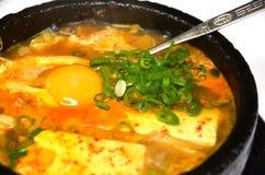 Hot tofu stew called sundubu Stock Photo