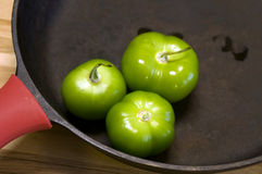 Hot tomatillos Stock Photography