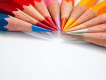 Hot tone color pencil Stock Photo