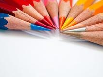 Hot tone color pencil. Hot tone eleven color of pencil Stock Photo