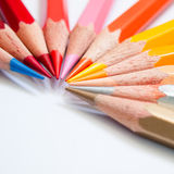 Hot tone color pencil Royalty Free Stock Image