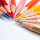 Hot tone color pencil. Hot tone eleven color of pencil Royalty Free Stock Image
