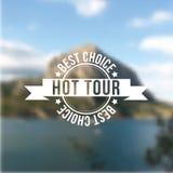 Hot tour, best choice stamp. Stock Photos