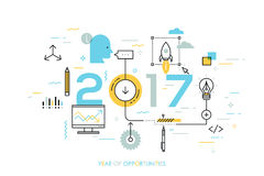Hot trends and prospects in idea creation, innovative activities, startup launch, development Stock Photo