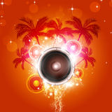 Hot Tropical Party Background Stock Photo