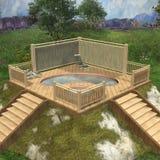 Hot Tub. 3D Render of an Hot Tub royalty free illustration