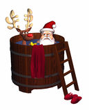 Hot Tub Santa Stock Images
