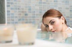 Hot tub at spa Royalty Free Stock Image