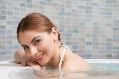 Hot tub at spa Royalty Free Stock Photography
