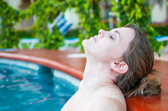 In the hot tub Royalty Free Stock Photography