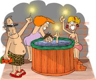 Hot Tubbers Stock Photos