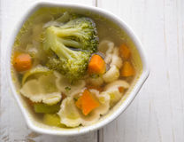 Hot vegetable soup Stock Photo