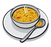 Hot vegetable soup Royalty Free Stock Photos