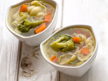 Hot vegetable soup Royalty Free Stock Photo