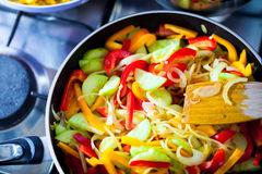 Hot vegetarian asian food Stock Photos