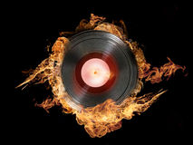 Hot Vinyl on Fire Royalty Free Stock Photography