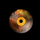 Hot vinyl on fire illustration. Hot vinyl and fire illustration on a black background Royalty Free Stock Photos