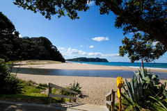 hot water beach New Zealand Royalty Free Stock Photography