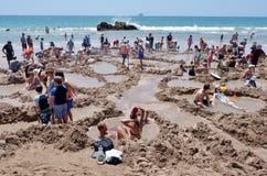 Hot Water Bech - New Zealand Stock Image