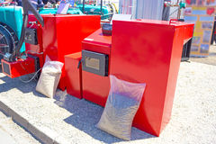 Hot water boiler Stock Image