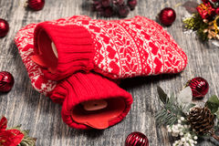 Hot water bottle on the background Royalty Free Stock Photos
