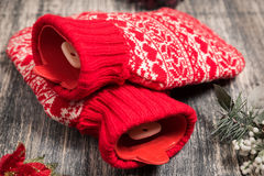 Hot water bottle on the background Stock Image