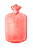 Hot water bottle or bag red color on isolated Stock Image
