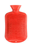Hot water bottle or red bag on white Stock Photography