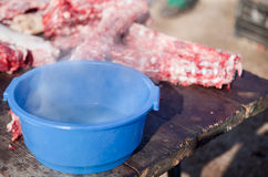 Hot water bucket Stock Images