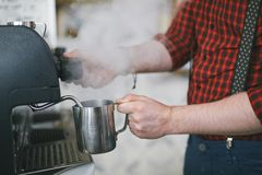 Hot water for coffee Royalty Free Stock Photography