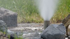 Hot water from Geyser stock footage